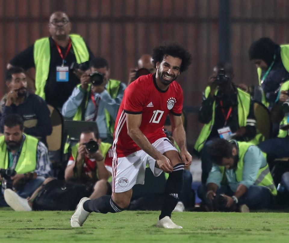 Golazo olímpico de Mohamed Salah con Egipto