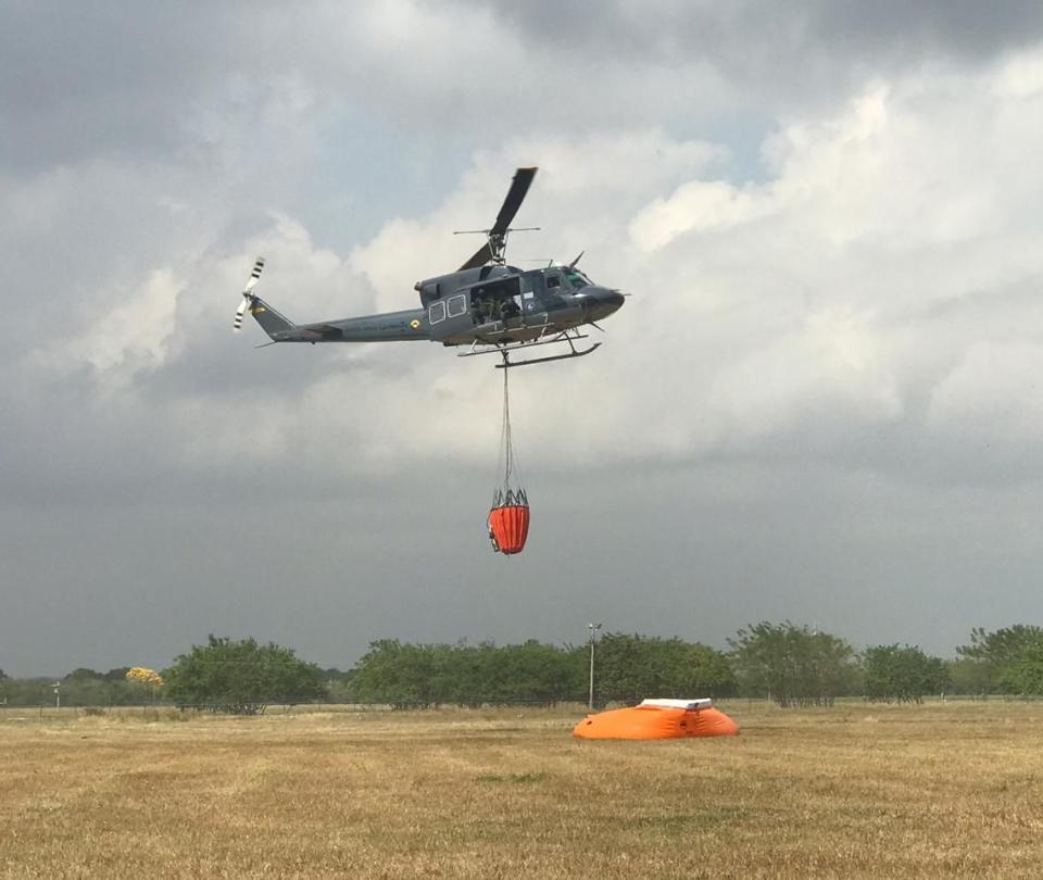 FAC dispone de 2 helicópteros para apagar incendios en el Caribe