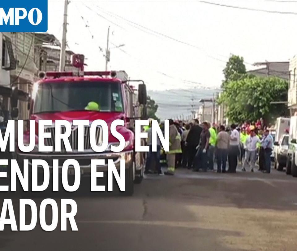 18 fallecidos en incendio de una clínica de adicciones en Ecuador