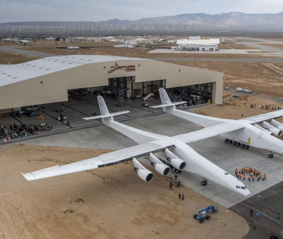 En fotos: Así voló el avión más grande del mundo