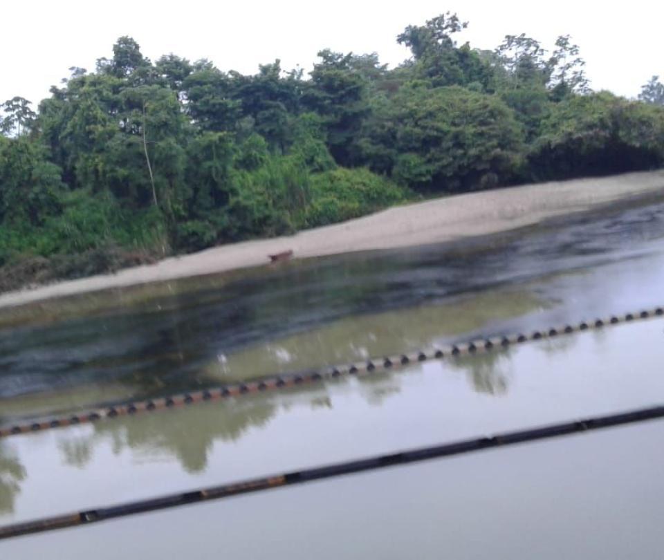Cayó crudo al río Tibú tras atentado al oleoducto Caño Limón Coveñas