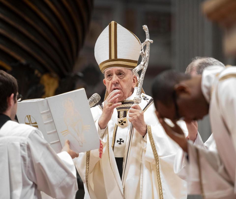Los 12 presos a los que el Papa les lavó los pies este Jueves Santo