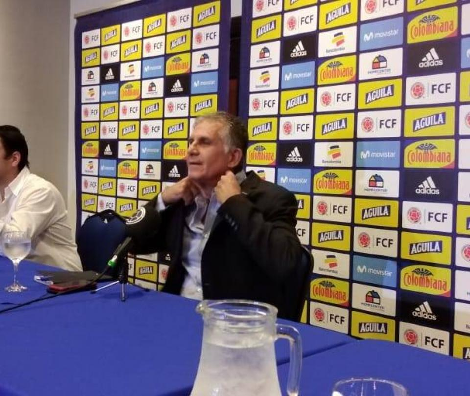 Queiroz lideró reunión virtual con técnicos juveniles de Colombia