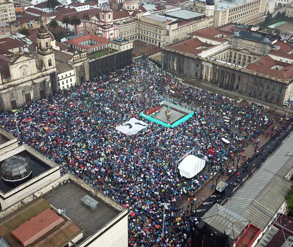 Fotos aéreas muestran la magnitud de la marcha 21N en el país
