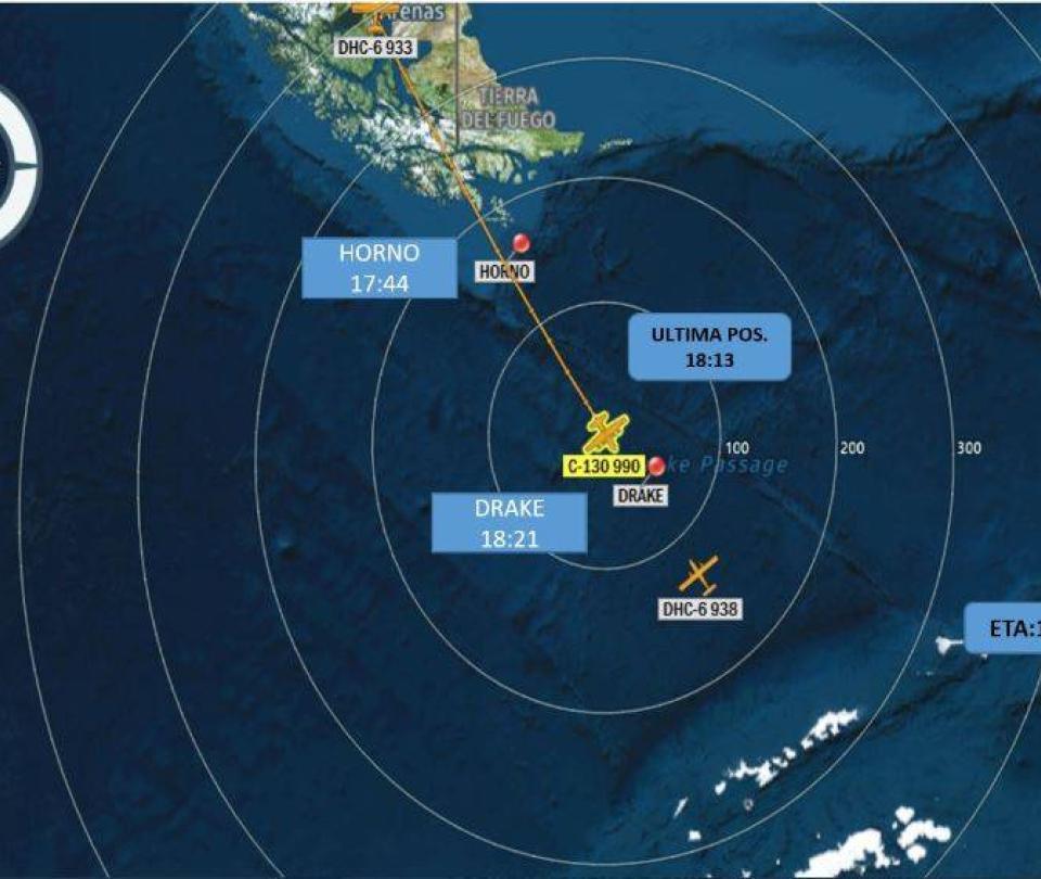 Desaparece un avión militar de Chile rumbo a la Antártida