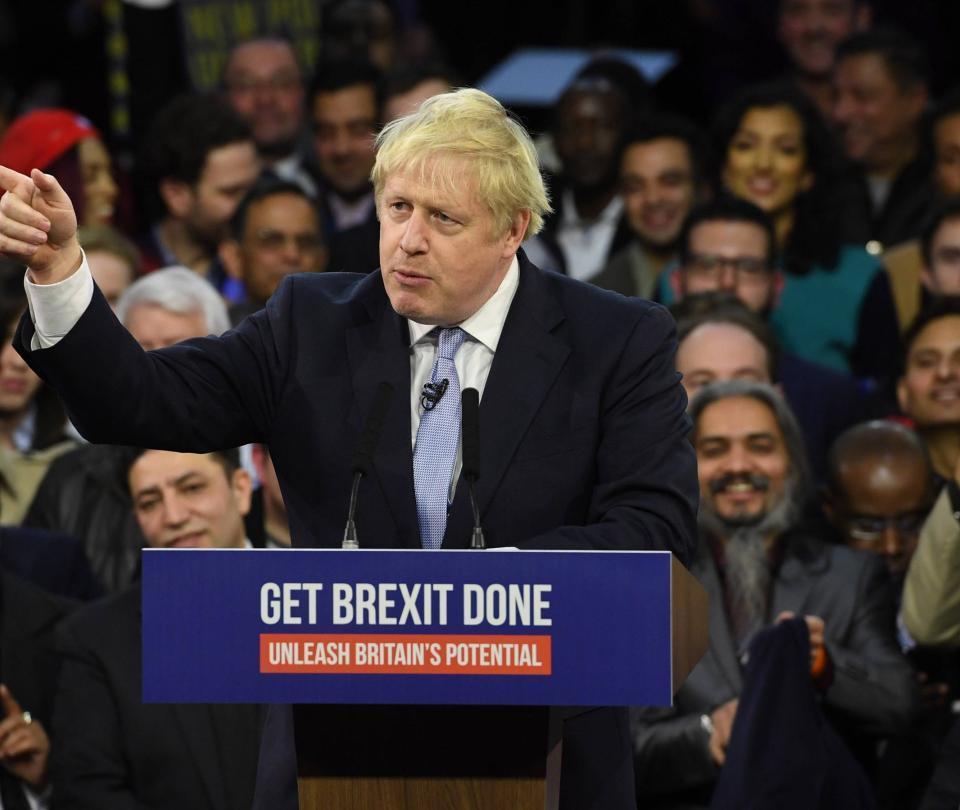 Johnson pide 'cerrar heridas' del 'brexit' luego de rotunda victoria