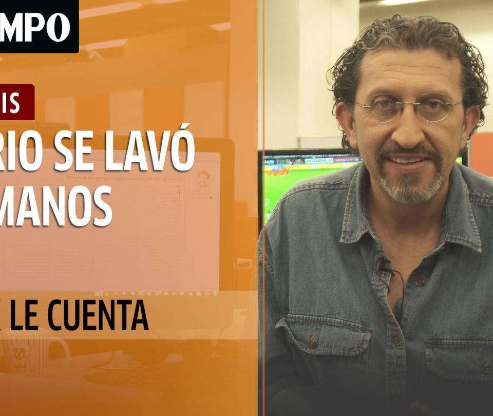 Meluk le cuenta... (Osorio se lavó las manos, y salpicó agua sucia)