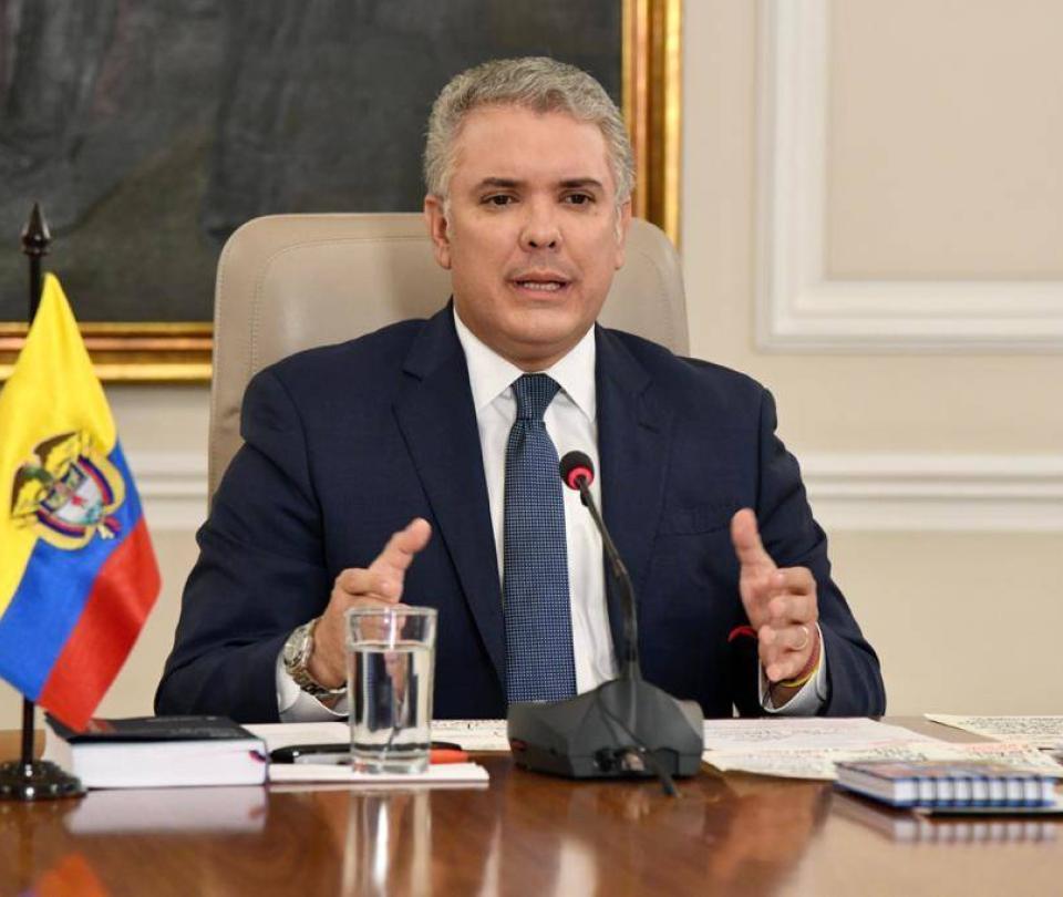 Colombianos con empleos informales recibirán apoyo económico: Duque