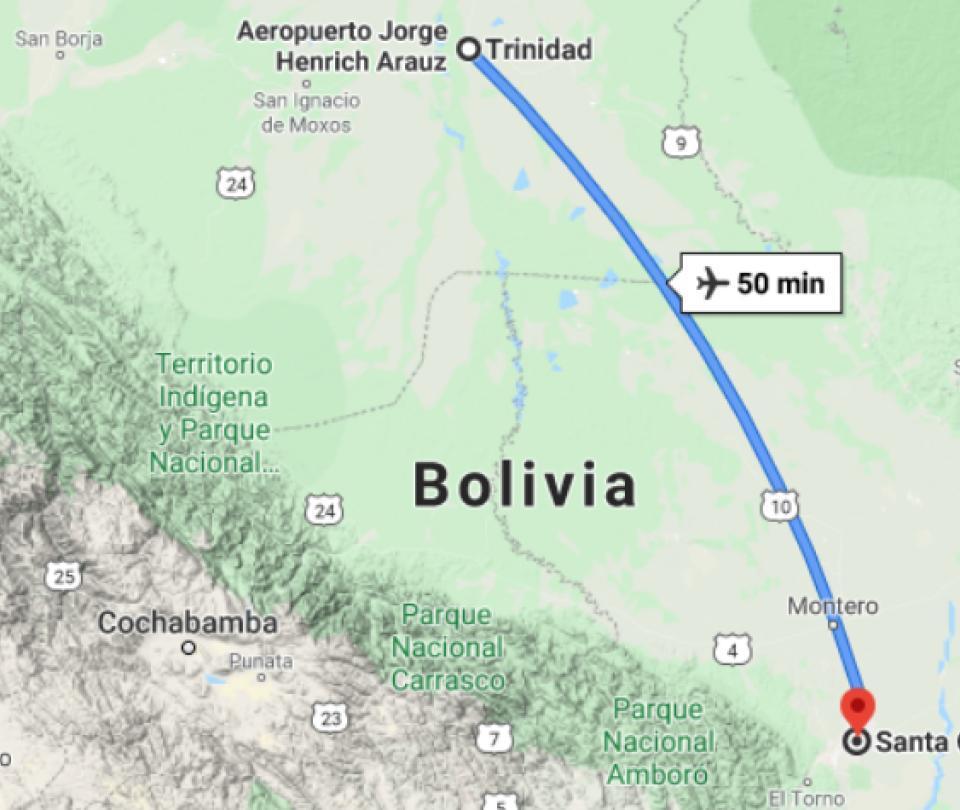 Accidente aéreo en Bolivia deja seis muertos