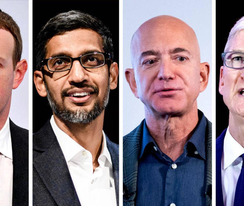 Críticas del Congreso de EE. UU. a las mayores empresas tecnológicas