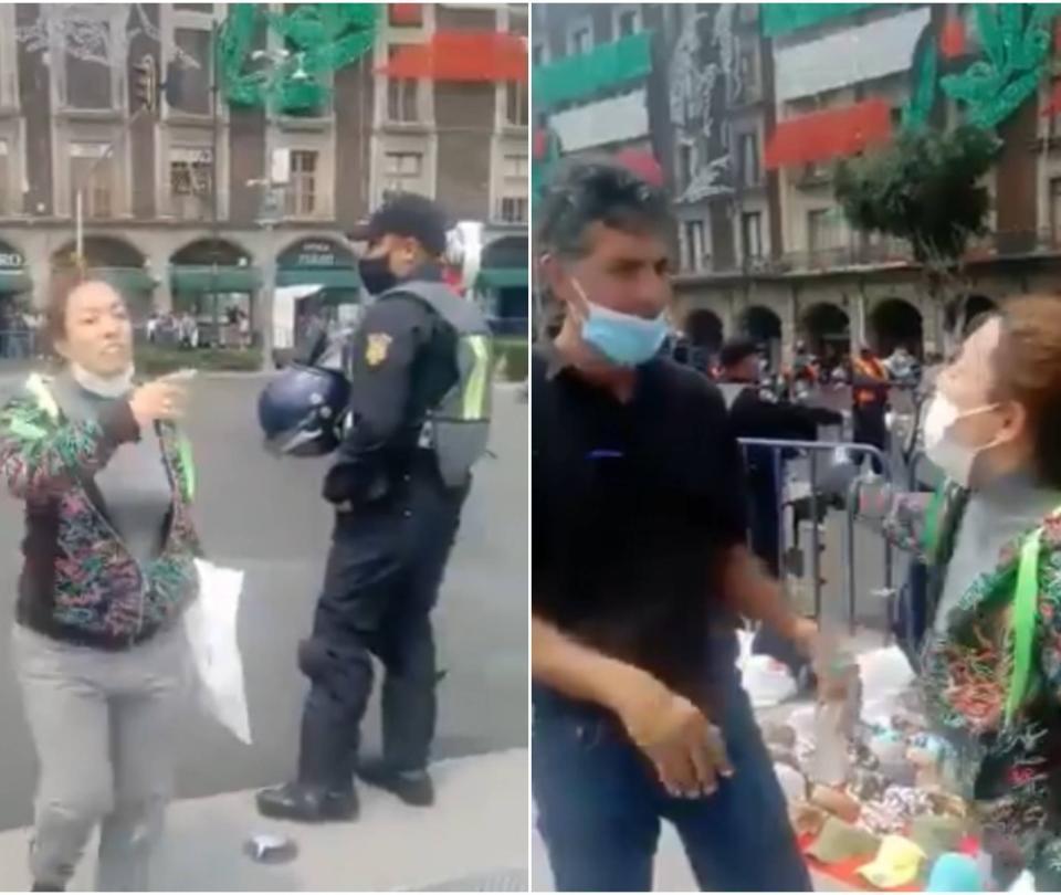 'Lady Frenadora', la mujer que agredió a manifestantes anti Amlo