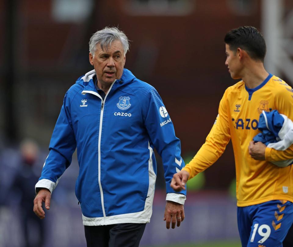 Ancelotti fue contundente sobre la posición y las funciones de James