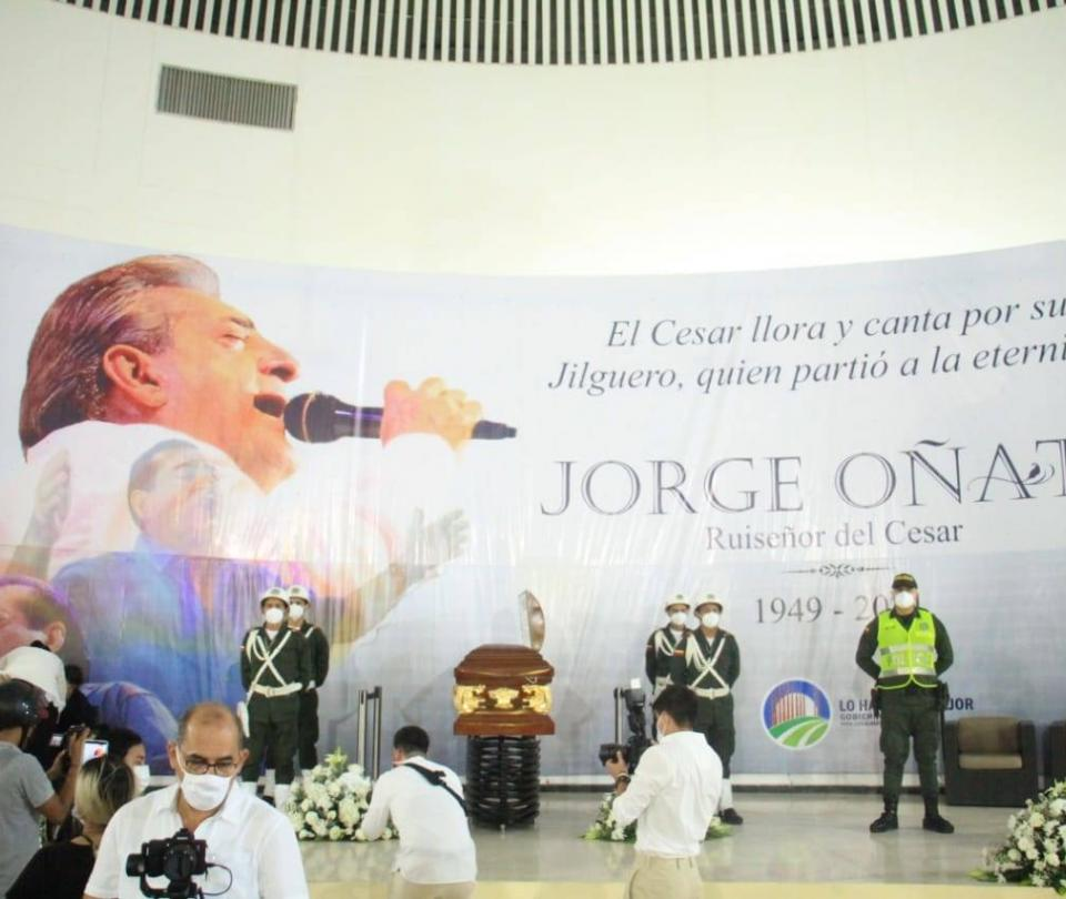 Valledupar le dijo adiós a Jorge Oñate, un grande del vallenato