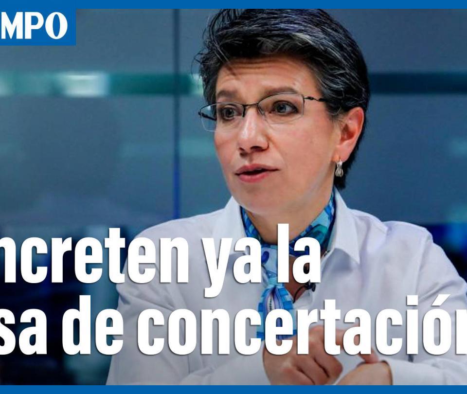 """""""Concreten sin más dilaciones una mesa de concertación"""", Claudia López"""