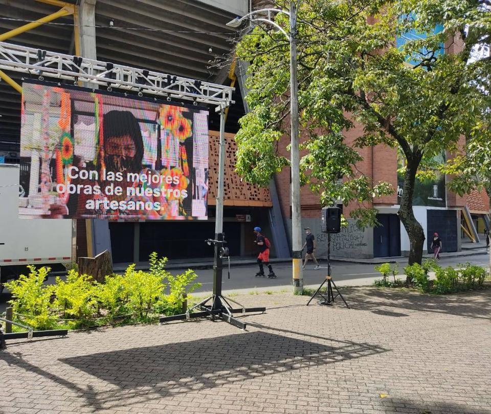 Instalarán pantallas gigantes en Medellín para ver la Copa América