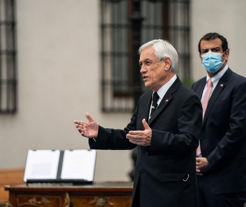 El presidente de Chile, Sebastián Piñera, visita a Cartagena