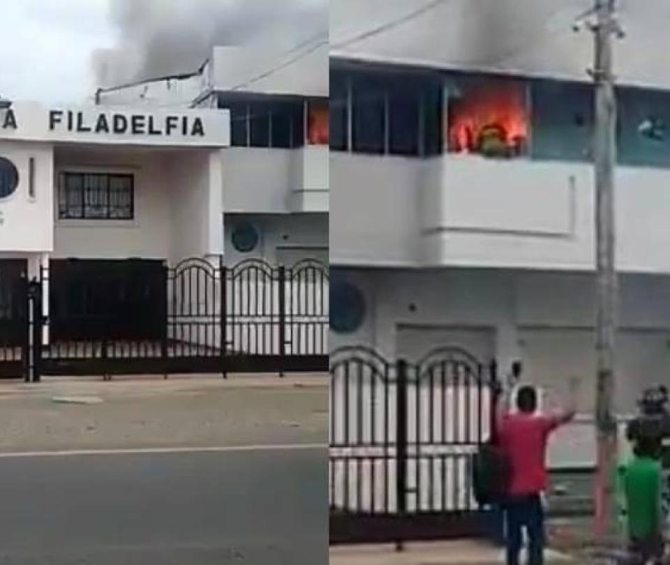 Atacan con bombas molotov iglesia cristiana en Neiva