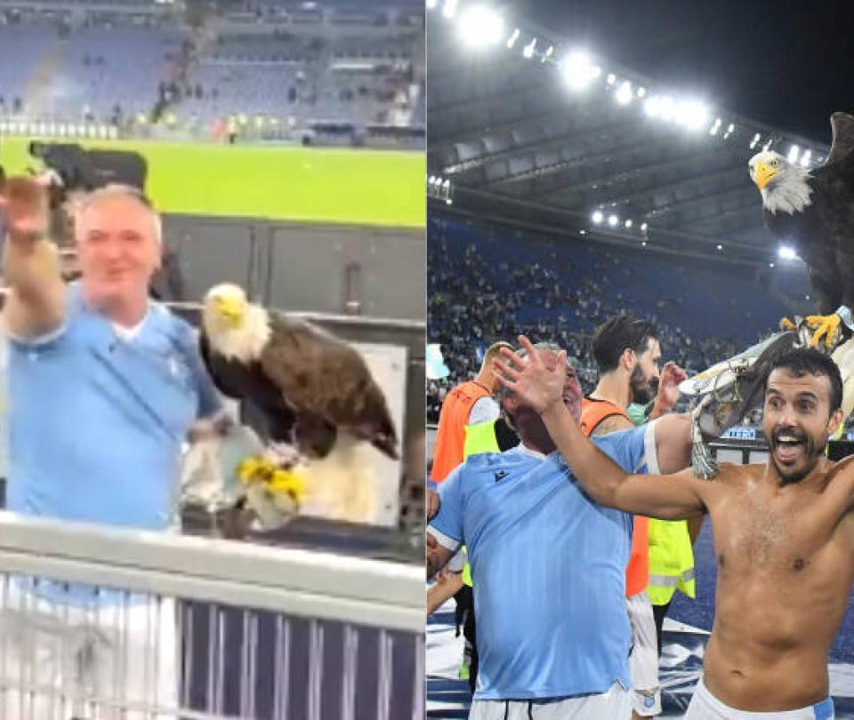 Despiden al entrenador del águila de la Lazio por hacer saludo fascista