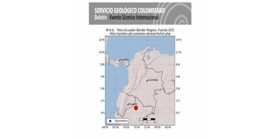 Sismo de magnitud 6,0 sacudió varias ciudades de Colombia