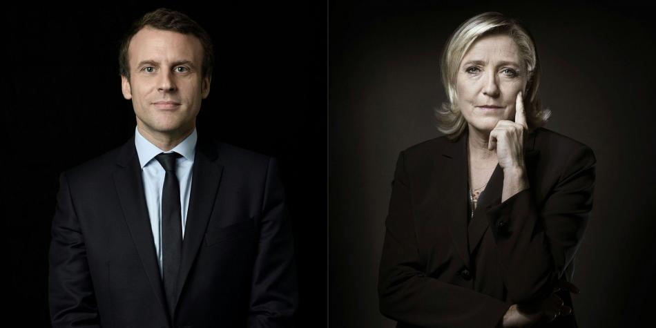 Abuchean a Macron; Le Pen gana terreno