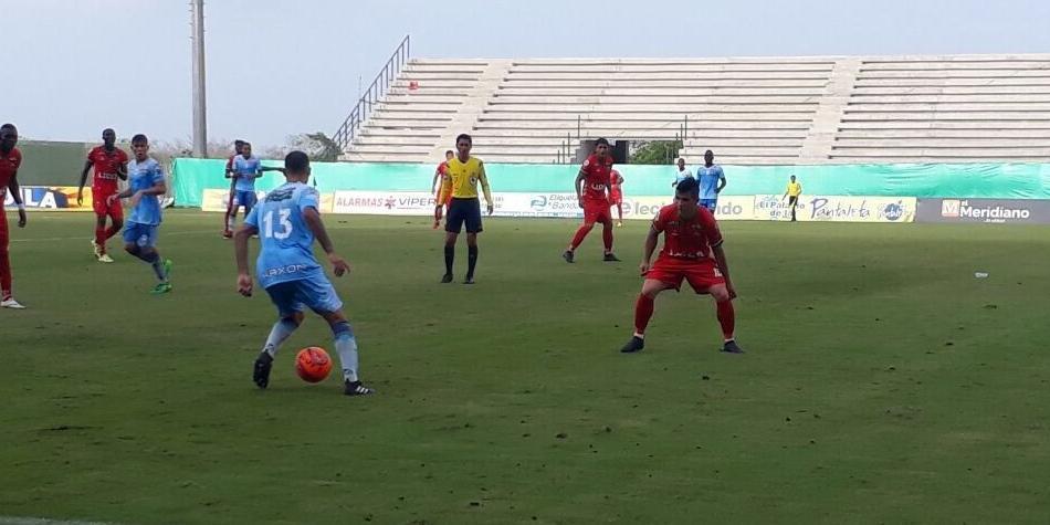 Jaguares y Patriotas empataron a un tanto en el estadio de Montería