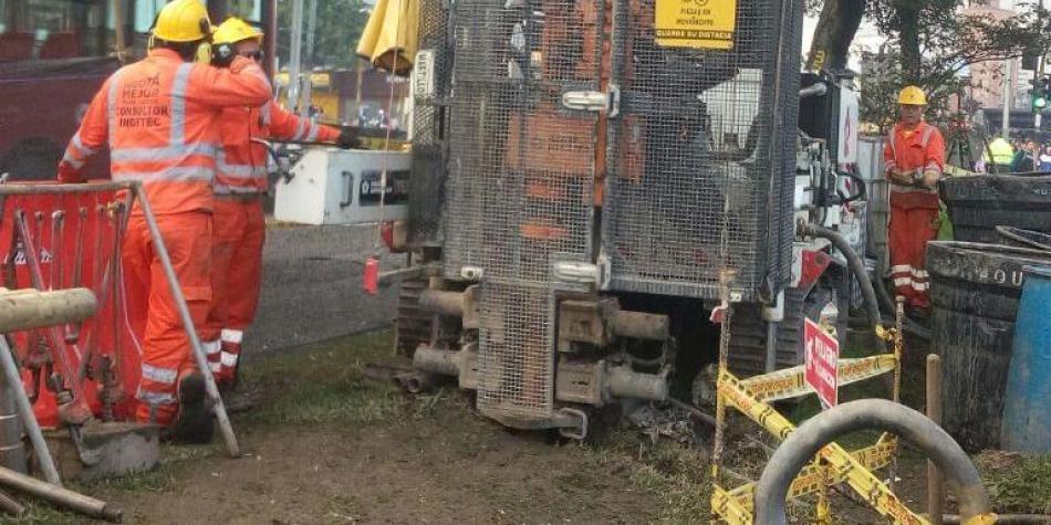 Inicia exploración geotécnica de suelos para obra del metro de Bogotá