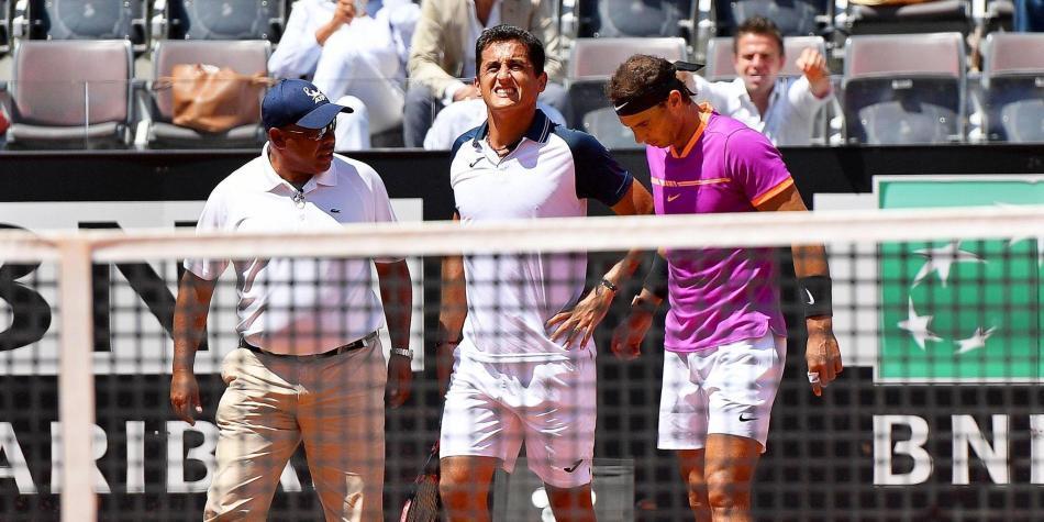 Djokovic avanza a semifinales del Abierto de Madrid por lesión de Nishikori