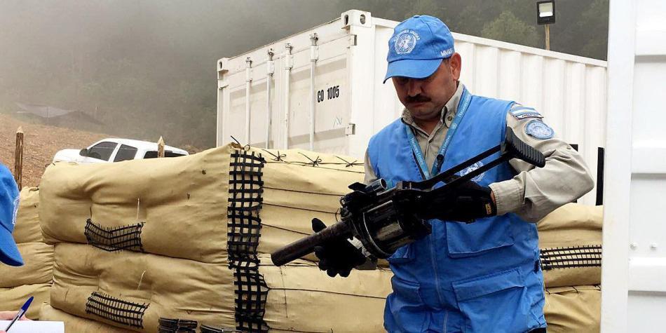 ONU ya comenzó la destrucción del armamento de las Farc