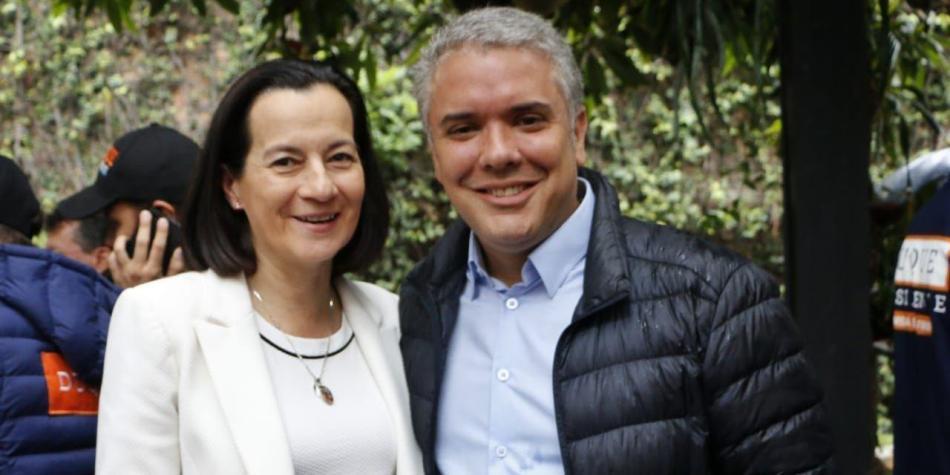 Clara Rojas e Iván Duque