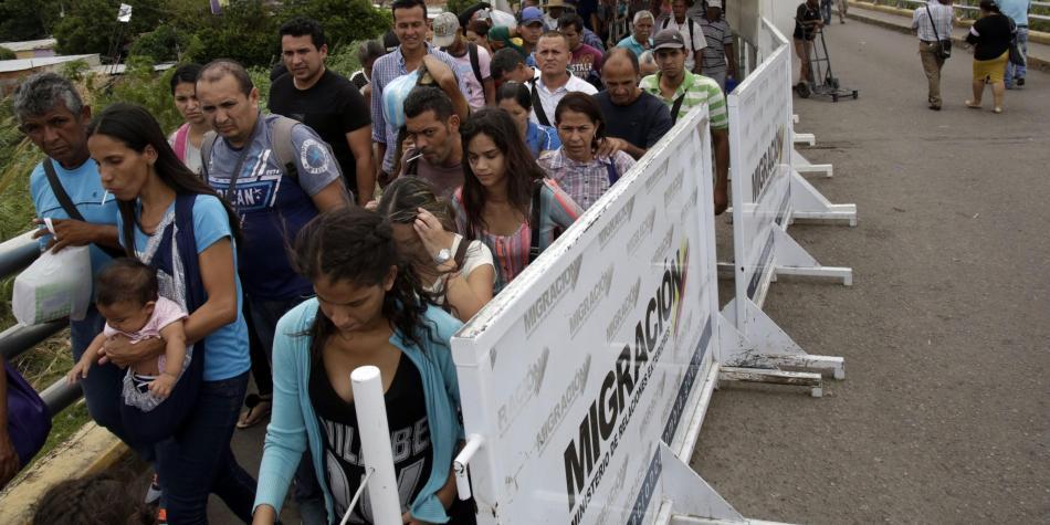 Fotos en la frontera con Venezuela