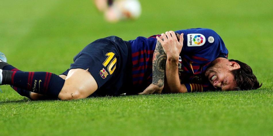 Resultado de imagen para Messi fue sustituido por Ousmane Dembélé