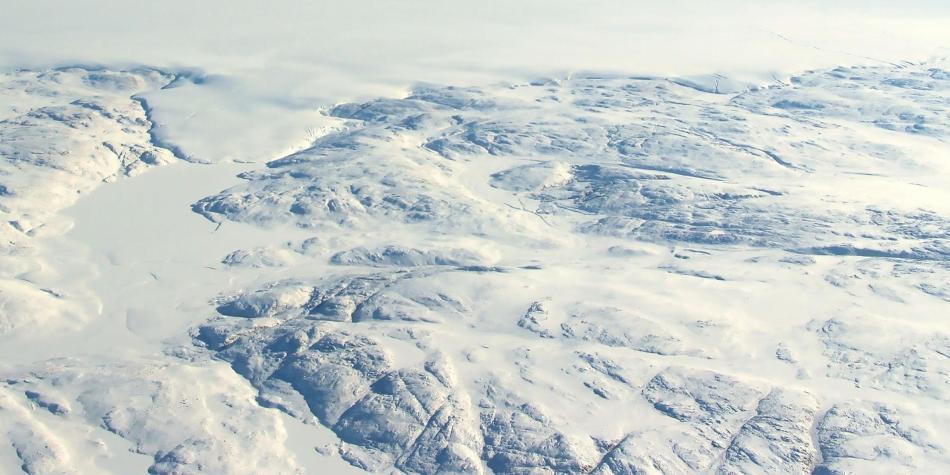 Cráter en Groenlandia