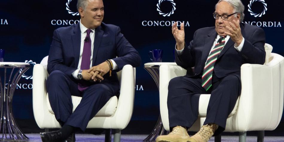 Iván Duque y Howard Buffett