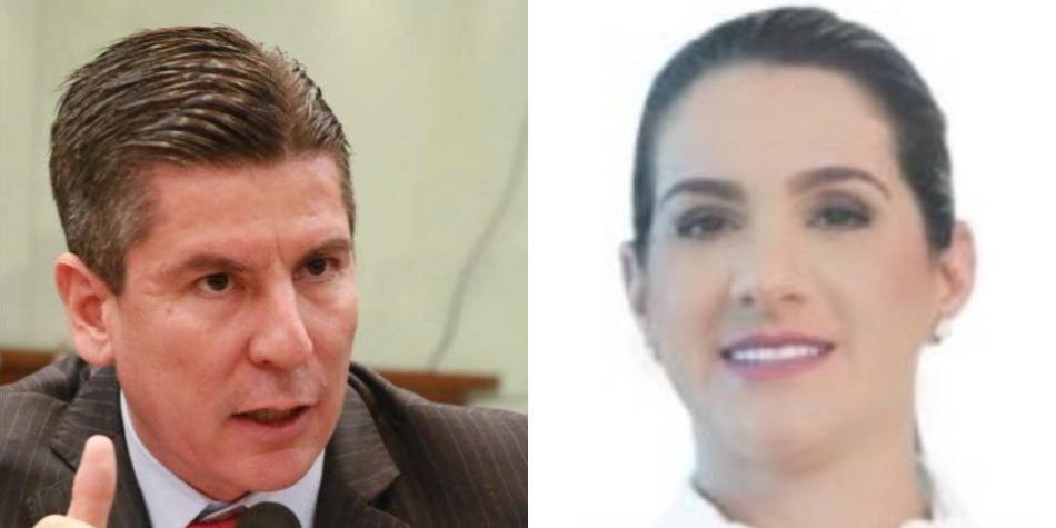 Congresistas amenazados Ricardo Ferro y Karen Cure