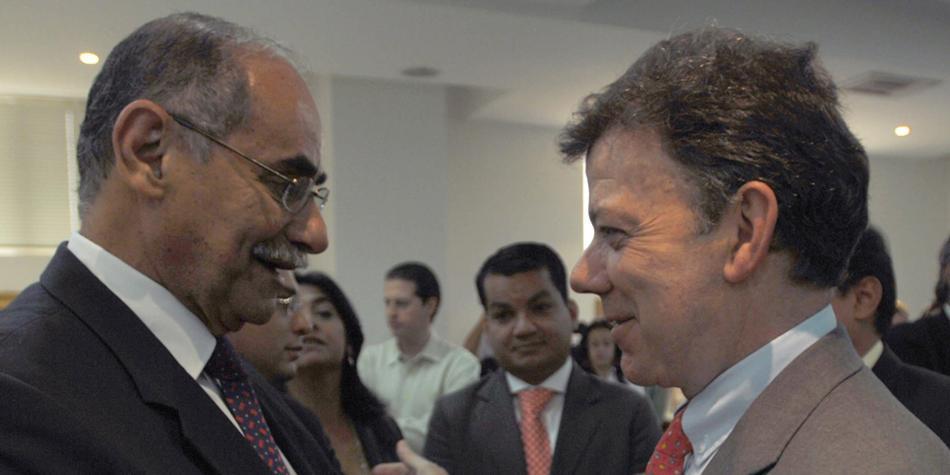 Horacio Serpa y Juan Manuel Santos