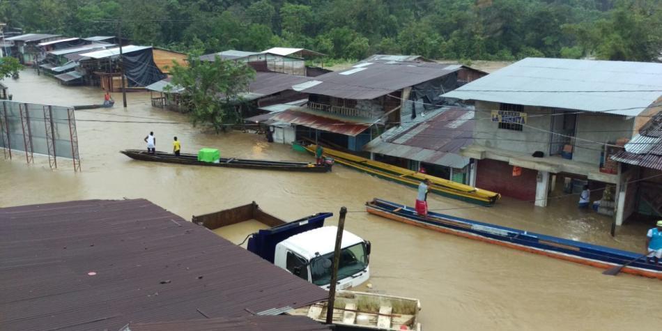 Lluvias dejan dos muertos, un herido y dos desaparecidos en Chocó