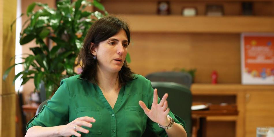 La exgerente Cristina Arango.