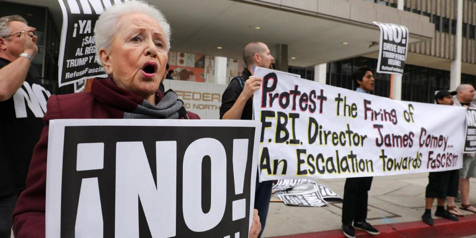 Protestas contra el despido de James Comey director del FBI