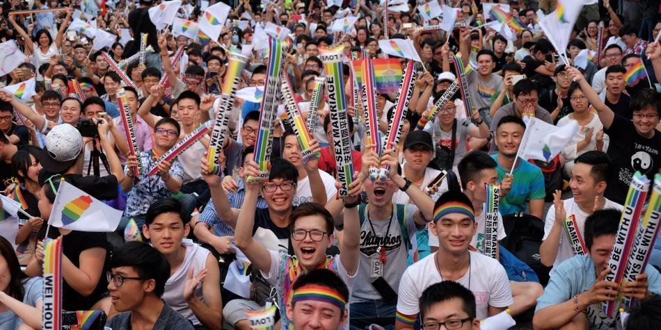 Taiwán dicta histórica sentencia a favor de las uniones gay