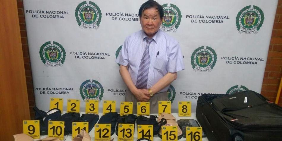 Capturan a anciano chino con 5,7 kilos de cocaína