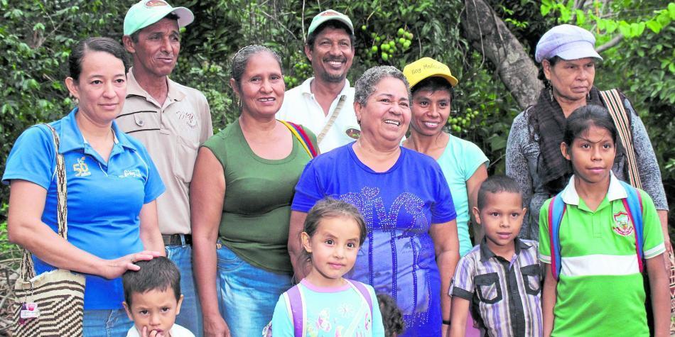 Habitantes de la vereda La Secreta (Ciénaga, Magdalena)