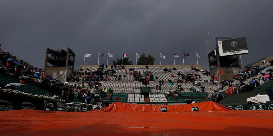Postergan para mañana los cuartos de final masculinos de Roland Garros