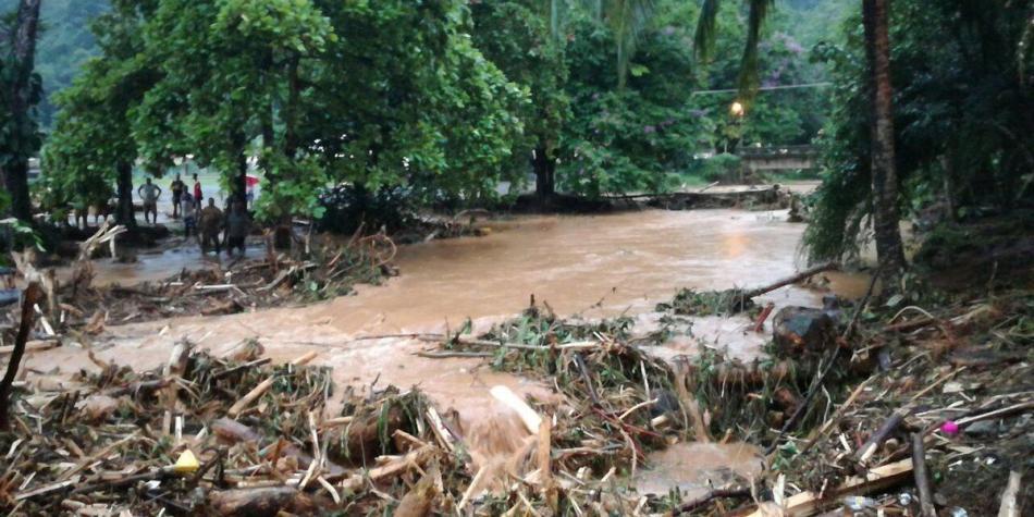 Inundaciones dejan unos 3 mil damnificados en Chocó, Colombia