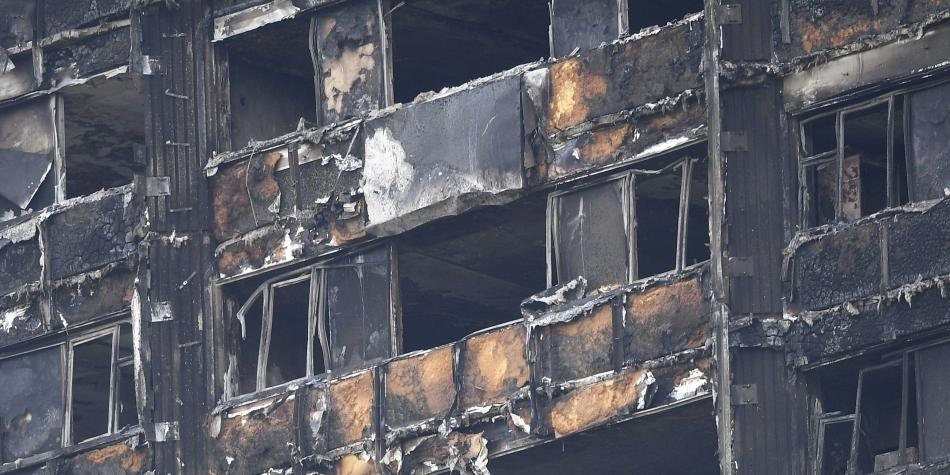 Edificio incinerado en Londres