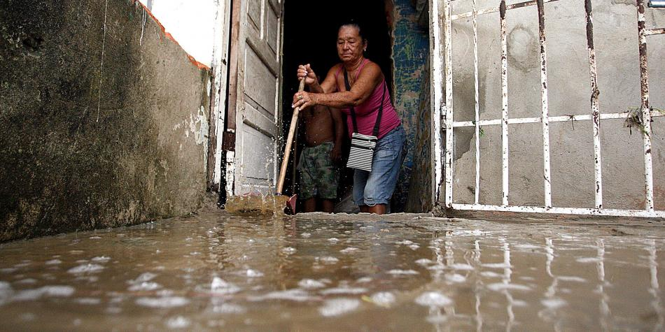 Fuertes lluvias generan inundaciones en San Andrés