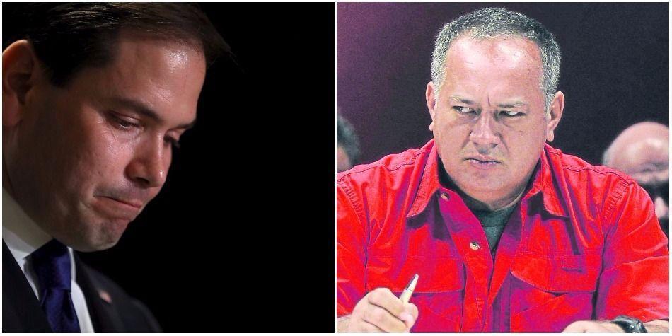 Diosdado Cabello y Marco Rubio