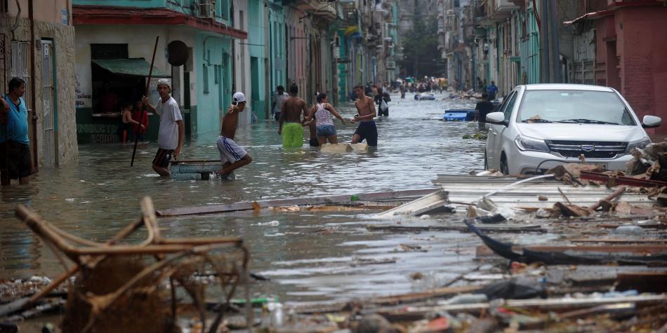 Inundaciones en Cuba por huracán Irma