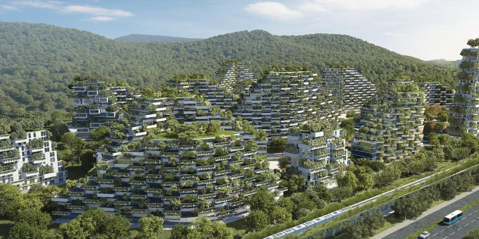 Resultado de imagen para En China se edificará una ciudad bosque que no contamina