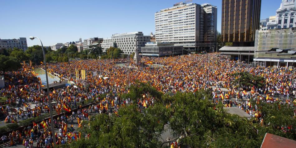 Manifestaciones en España por independencia de Cataluña
