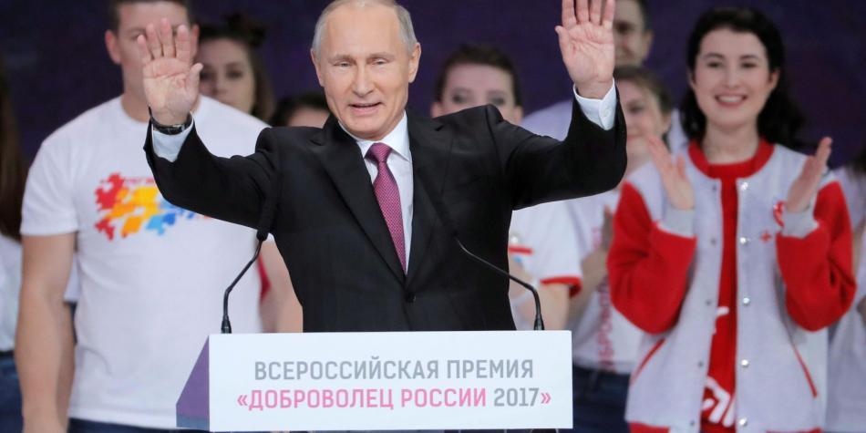En Rusia, Vladimir Putin se lanza a su  cuarta presidencia